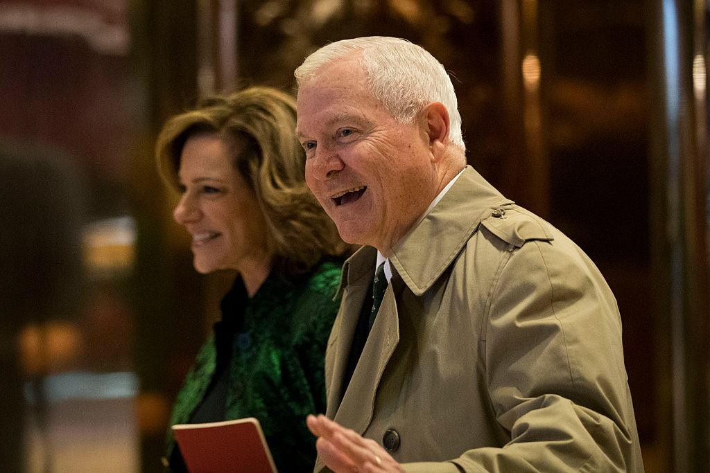 Robert Gates arrive at Trump Tower on December 2, 2016 (Getty Imags)
