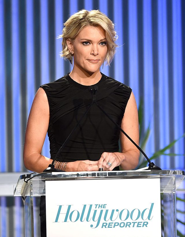 Honoree Megyn Kelly speaks onstage during The Hollywood Reporter's Annual Women in Entertainment Breakfast in Los Angeles at Milk Studios on December 7, 2016 in Hollywood, California. (Photo by Kevin Winter/Getty Images for The Hollywood Reporter )