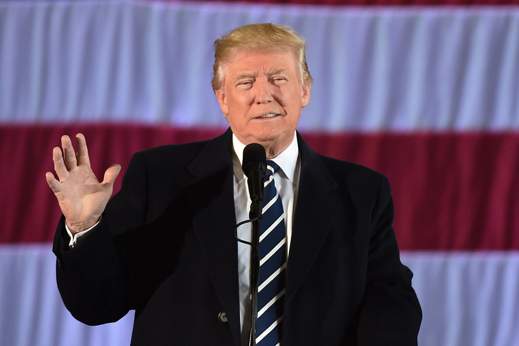 Donald Trump speaks at a victory rally in Baton Rouge, Louisiana on December 9, 2016 (Getty Images)