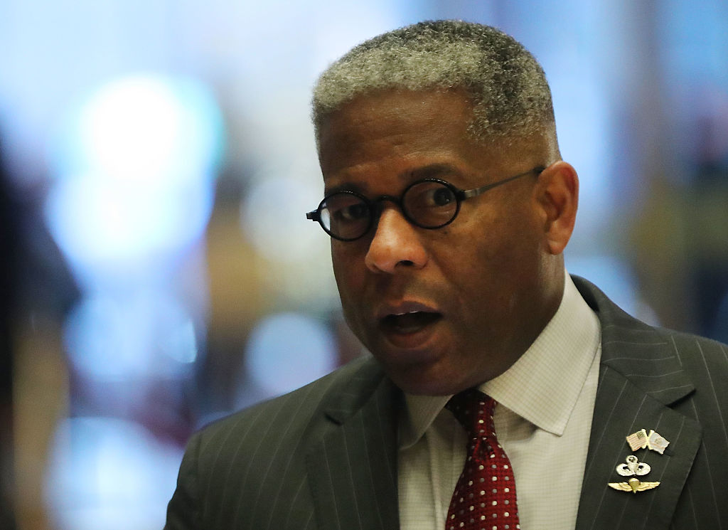 Allen West walks into Trump Tower on December 12, 2016 (Getty Images)