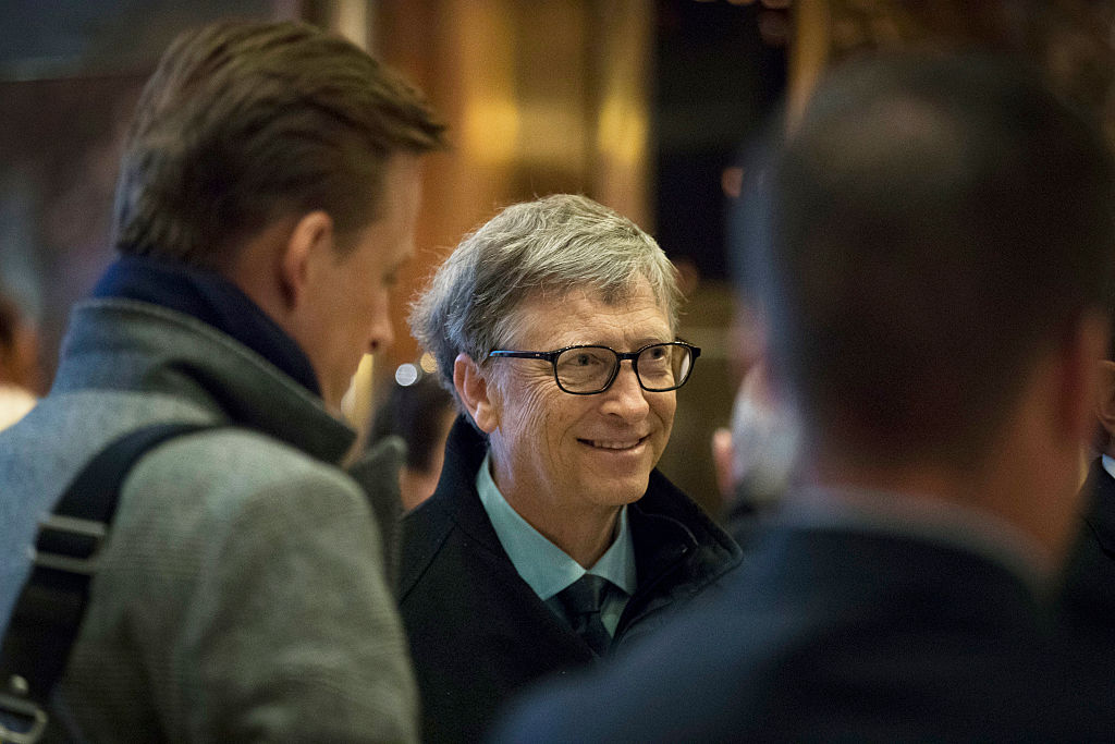 Bill Gates arrives at Trump Tower in New York City (Getty Images)