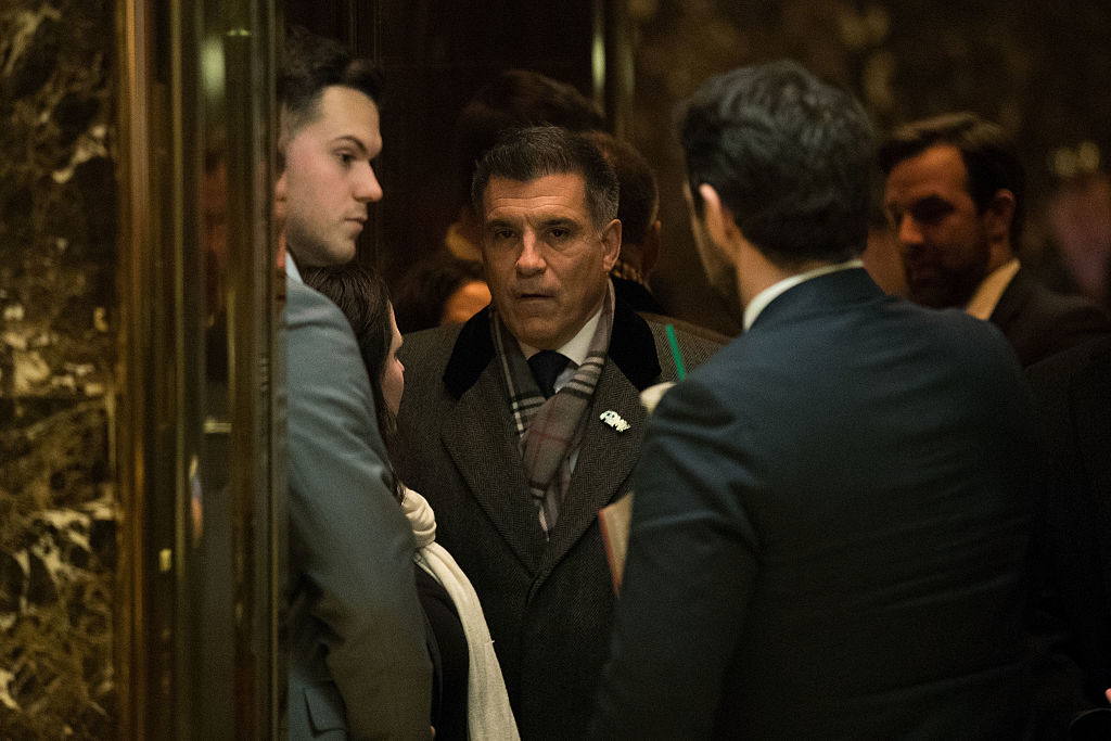 Vincent Viola stands in an elevator in Trump Tower (Getty Images)