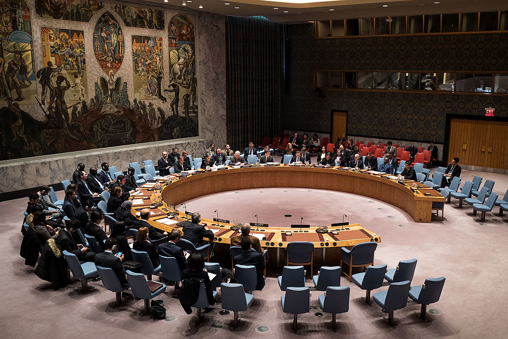The United Nations Security Council meets briefly concerning peace consolidation in West Africa and the situation in the Middle East at U.N. Headquarters on December 21, 2016 (Getty Images)