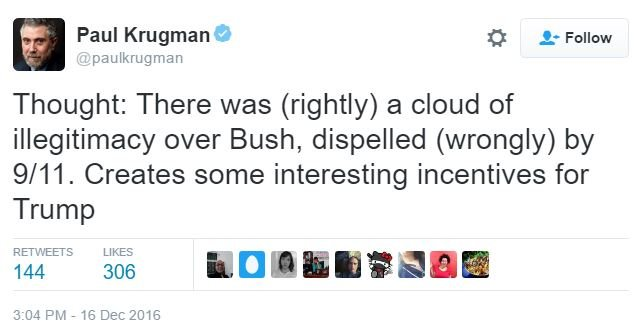 Paul Krugman, conspiracy theorist (Screenshot/Twitter)