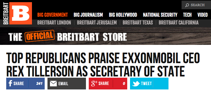 Breitbart's Trump PR.