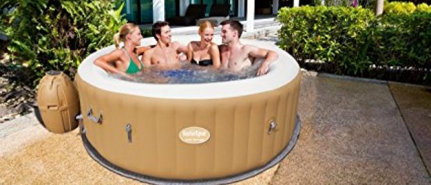 This hot tub is $114 off today (Photo via Amazon)