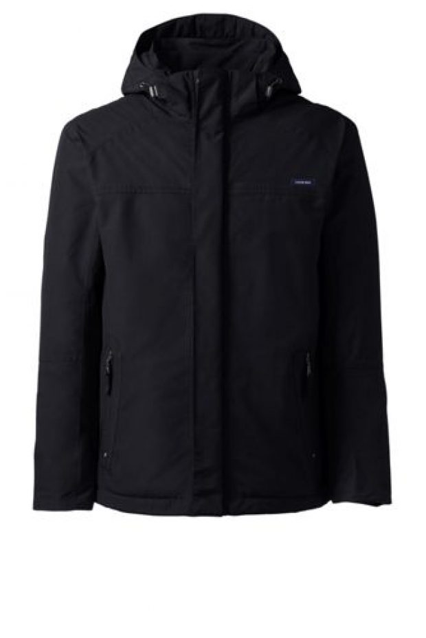 This jacket comes in black as well as blue (Photo via Land's End)