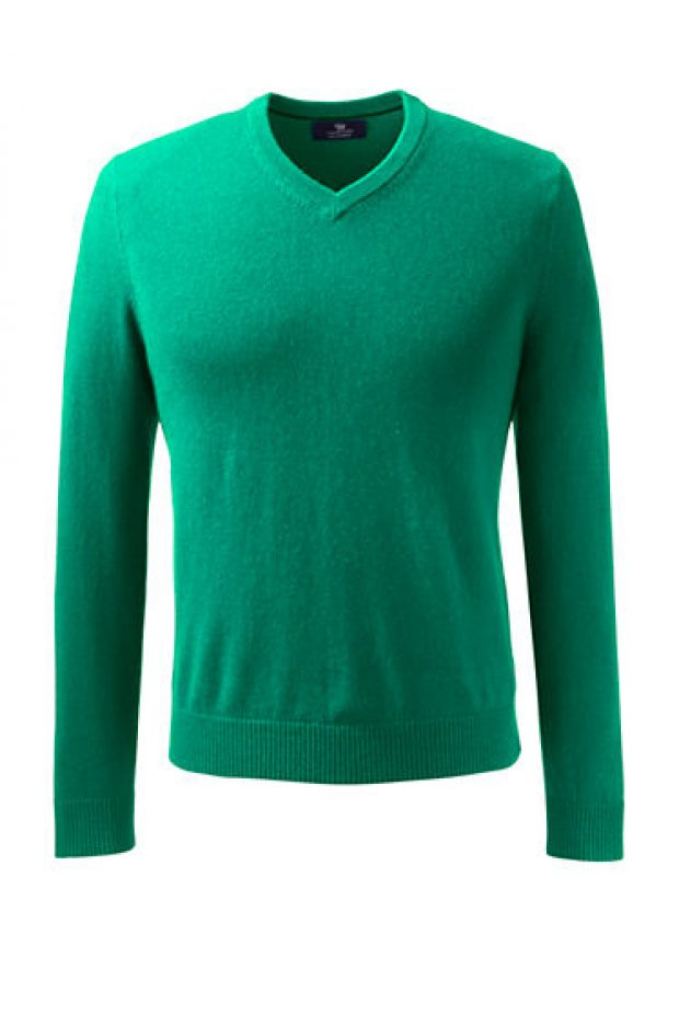 Normally $190, this cashmere sweater is 39 percent off. It comes in 9 different colors (Photo via Land's End)
