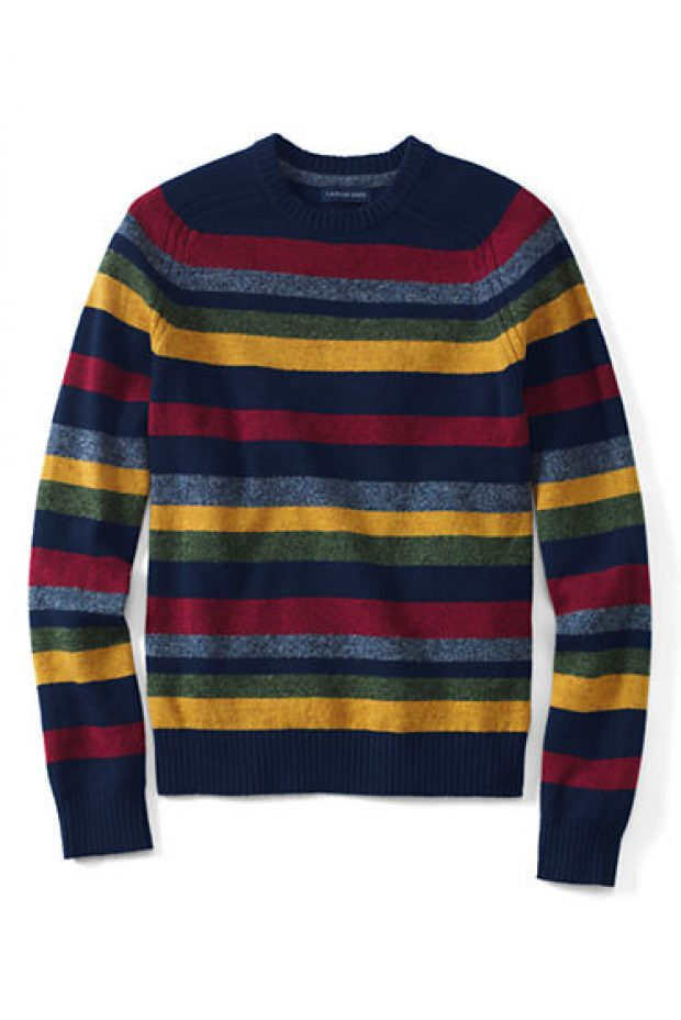 Normally $84, this lambswool sweater is 58 percent off (Photo via Land's End)