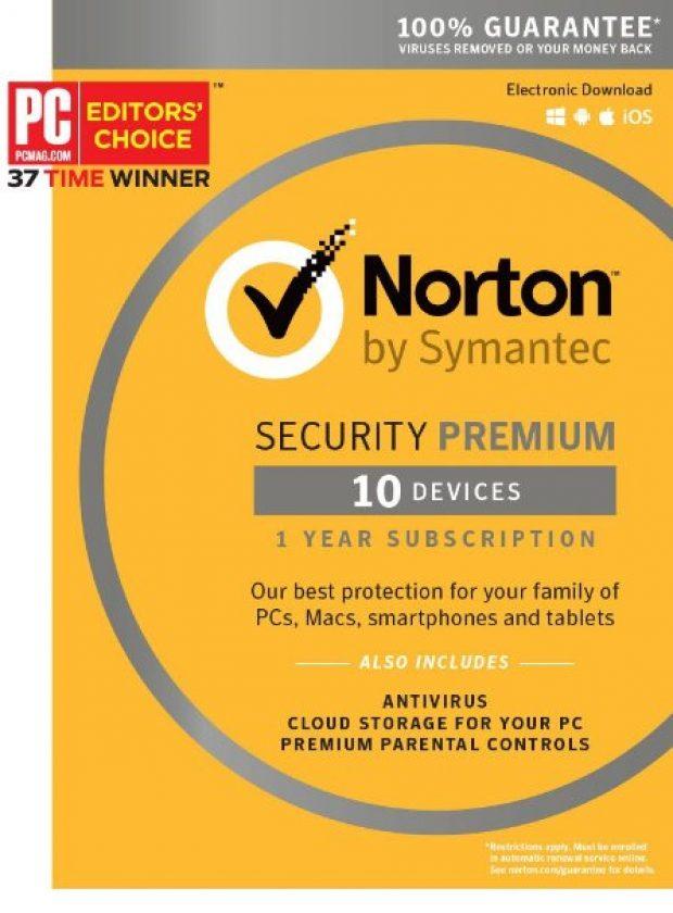 Norton has won PC Magazine's Editors' Choice Award 37 times, which is a lot (Photo via Amazon)