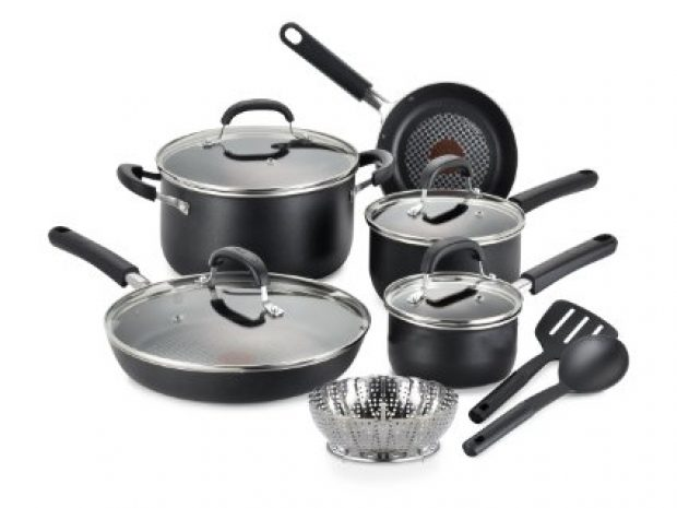 Normally $86, this 12-piece cookware set is 41 percent off today (Photo via Amazon)