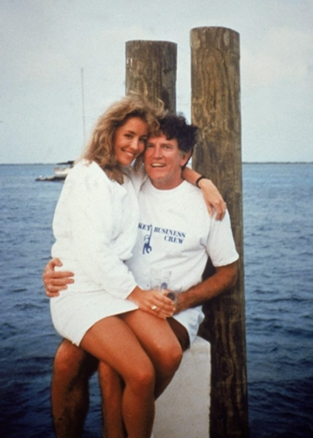 Donna Rice and Gary Hart on a boat called Monkey Business.