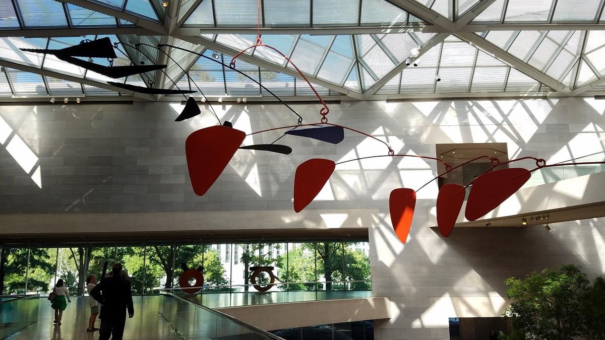 Alexander Calder's giant, untitled mobile.
