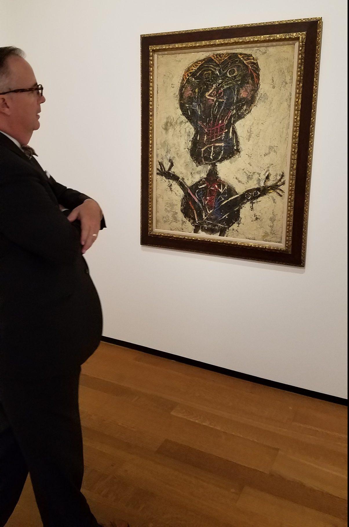 """Jean Dubuffet's """"Bertele as a blossoming bouquet, shideshow portrait."""""""