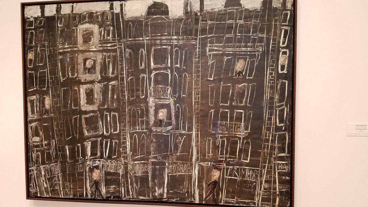 """""""Building Facades,"""" by Jean Debuffet."""