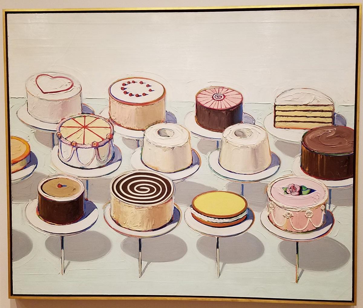 """Wayne Thiebaud's """"Cakes."""""""