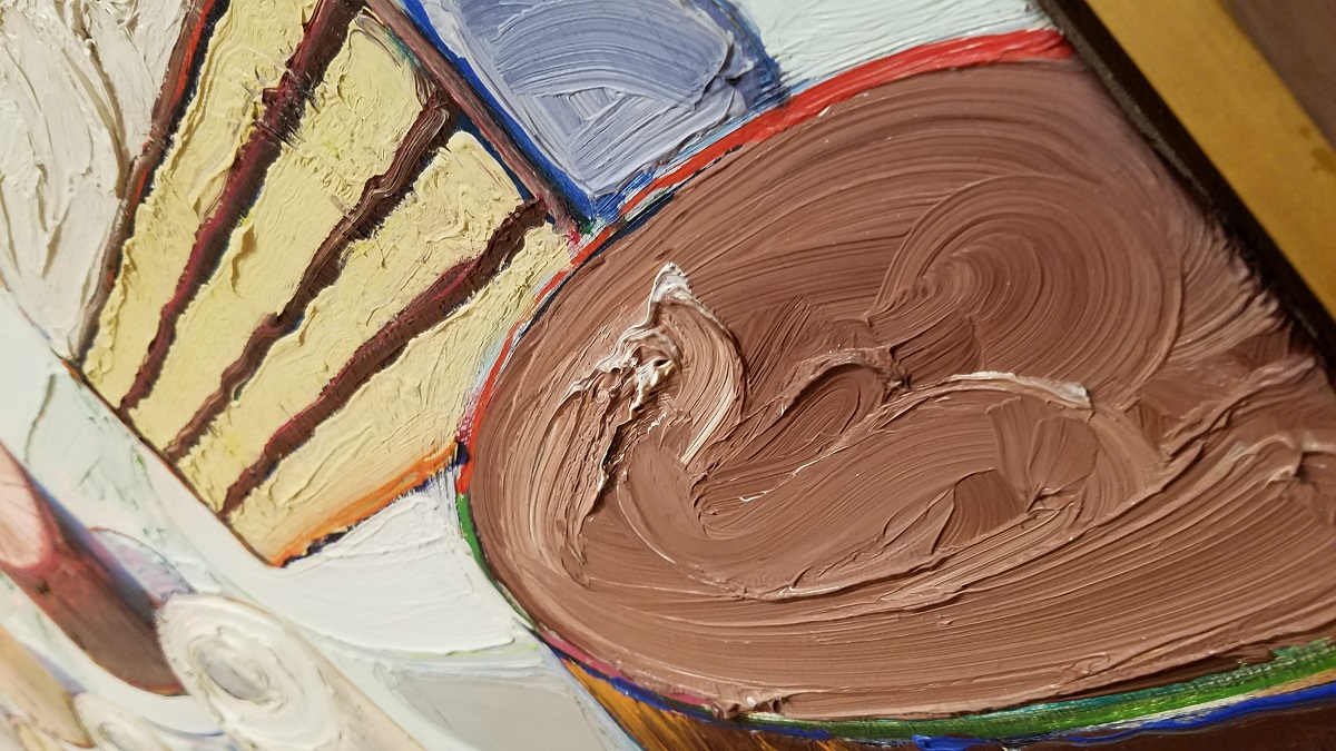 """Wayne Thiebaud's """"Cakes,"""" detail."""