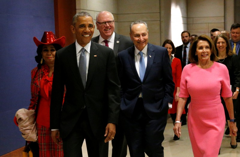 Barack Obama meets with Congressional Democrats to discuss strategies to save the Affordable Care Act (Reuters Pictures)