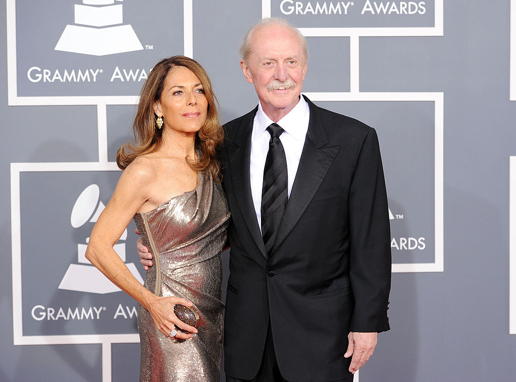 Musicians Butch Trucks (R) and Melinda Trucks arrives at the 54th Annual GRAMMY Awards held at Staples Center on February 12, 2012 in Los Angeles, California. (Photo by Jason Merritt/Getty Images)