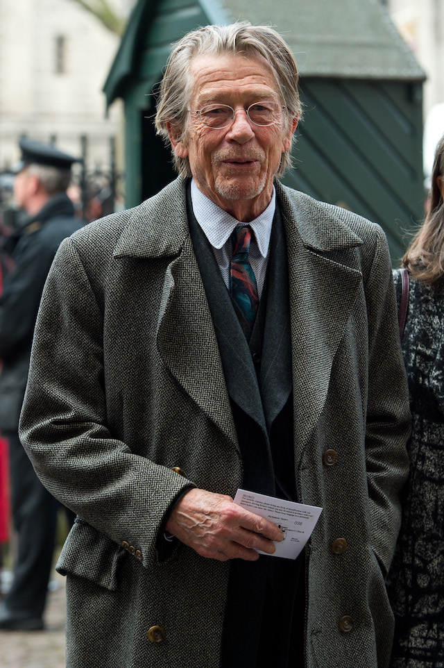 LONDON, ENGLAND - MARCH 17: John Hurt attends a Memorial Service for Sir Richard Attenborough at Westminster Abbey on March 17, 2015 in London, England. (Photo by Ben A. Pruchnie/Getty Images)