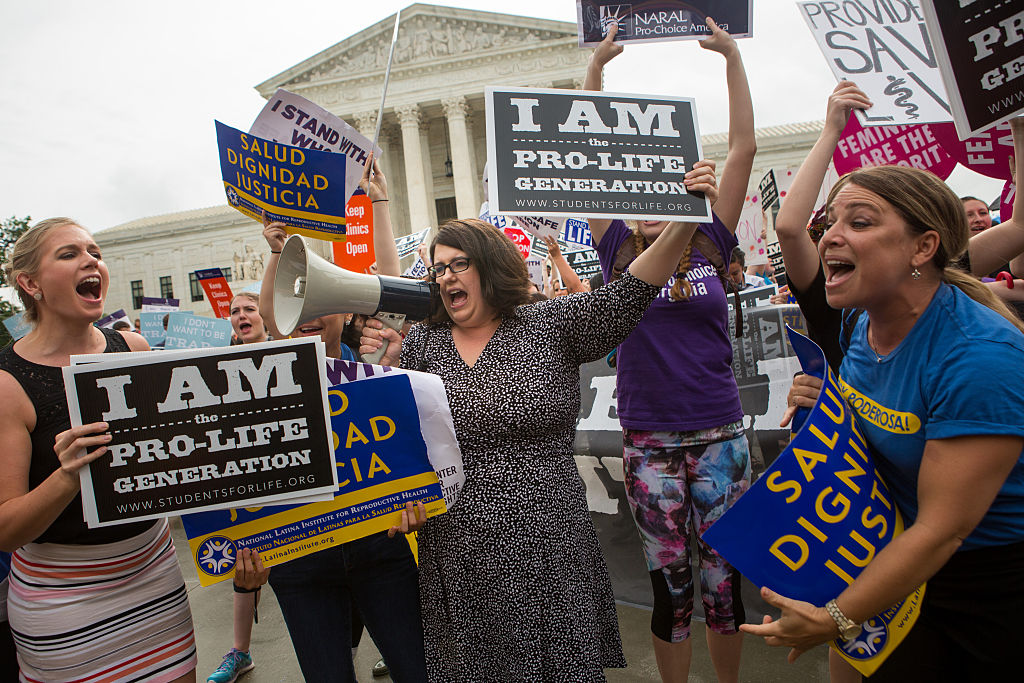 Pro-life protesters in D.C. (Getty Images)