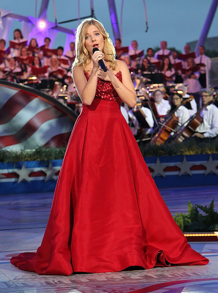 Classical crossover star Jackie Evancho performs at A Capitol Fourth concert at the U.S. Capitol, West Lawn, on July 4, 2016 in Washington, DC. (Photo by Paul Morigi/Getty Images for Capital Concerts)