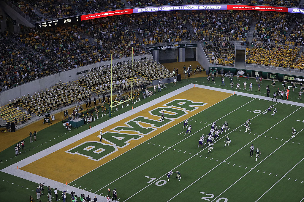 WACO, TX - SEPTEMBER 02: A general view of play between the Northwestern State Demons and the Baylor Bears at McLane Stadium on September 2, 2016 in Waco, Texas. (Photo by Ronald Martinez/Getty Images)