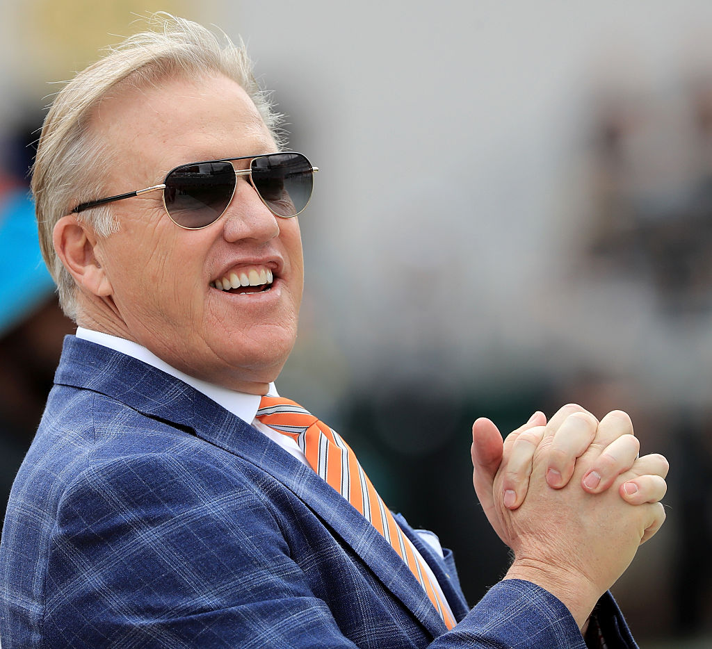 Denver Broncos GM John Elway before the game against the Jacksonville Jaguars at EverBank Field on December 4, 2016 in Jacksonville, Florida. (Photo by Sam Greenwood/Getty Images)