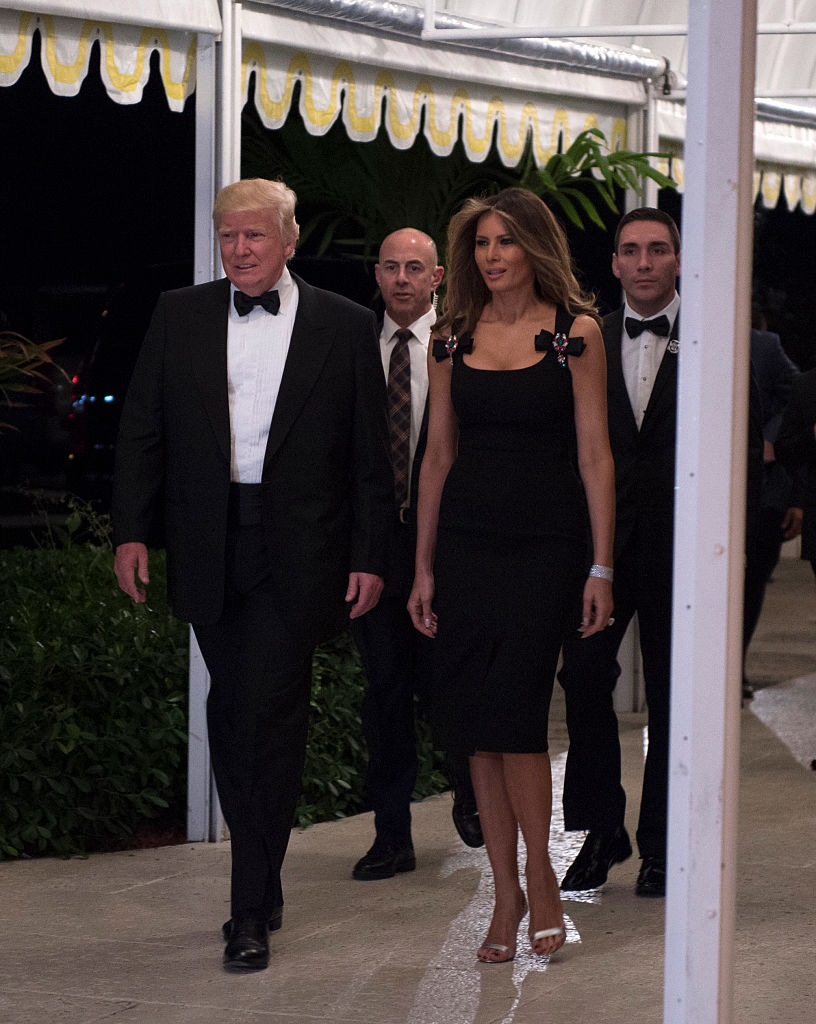 Melania on New Year's Eve. (Photo: Getty Images)