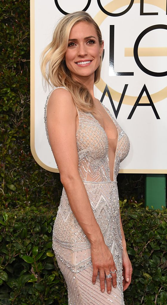 TV personality Kristin Cavallari arrives at the 74th annual Golden Globe Awards. (Photo credit: VALERIE MACON/AFP/Getty Images)