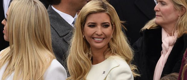 President Donald Trump's daughter Ivanka Trump arrives for the swearing-in ceremony of newly elected President Donald Trump in front of the Capitol in Washington on January 20, 2017. (Photo credit: TIMOTHY A. CLARY/AFP/Getty Images)
