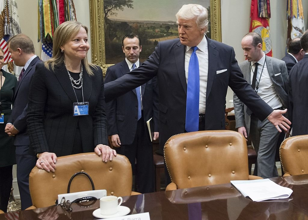 Mary Barra meets with Donald Trump (Getty Images)
