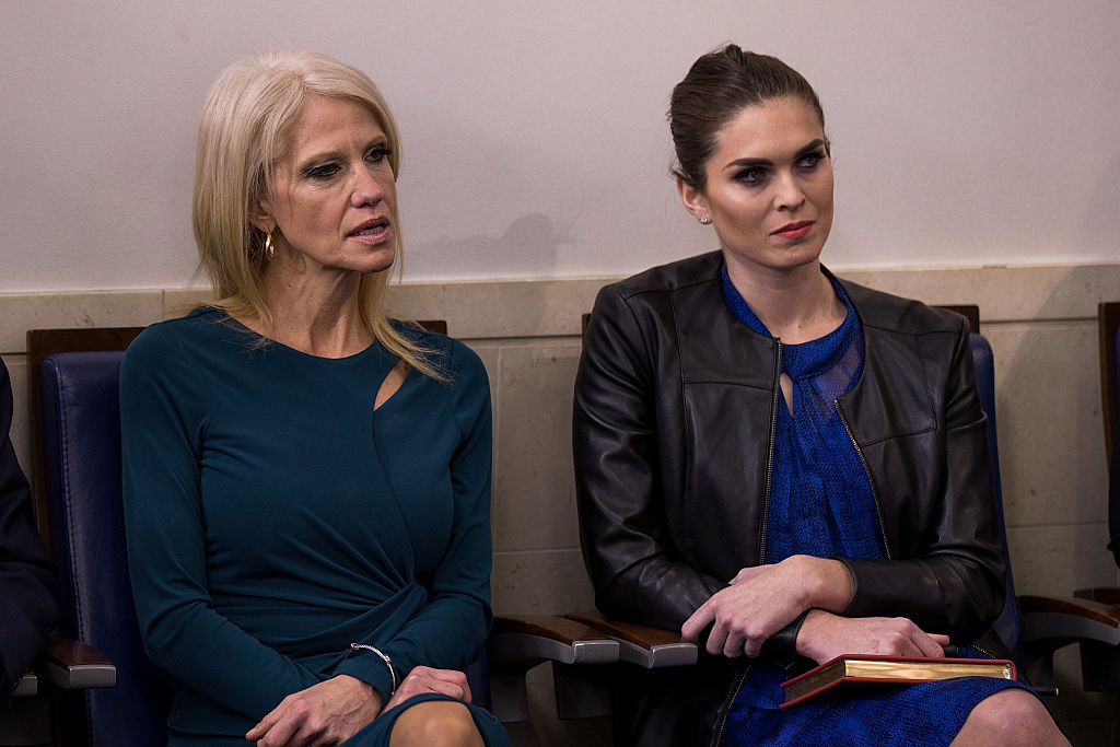 Kellyanne Conway, Hope Hicks (Getty Images)