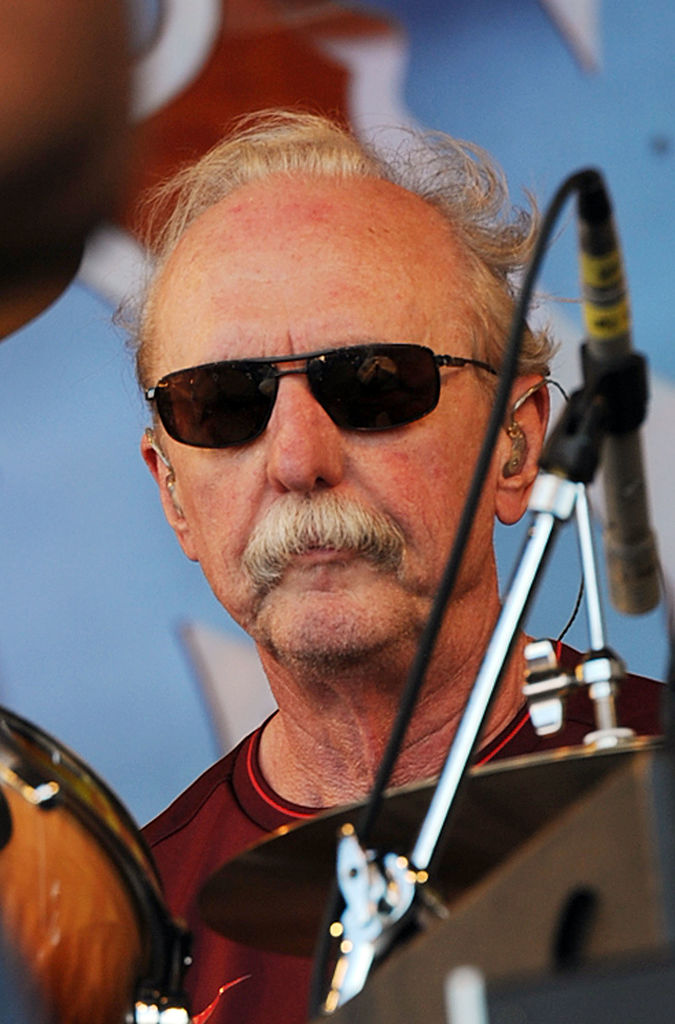 NEW ORLEANS - APRIL 25: Recording Artist Butch Trucks (Allman Brothers Band) performs at the 2010 New Orleans Jazz & Heritage Festival Presented By Shell at the Fair Grounds Race Course on April 25, 2010 in New Orleans, Louisiana. (Photo by Rick Diamond/Getty Images)
