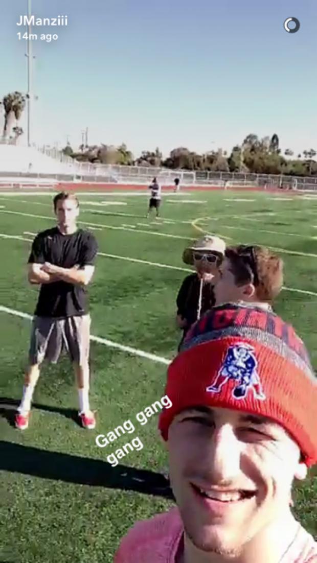 Manziel (Credit: Screenshot/Snapchat video)