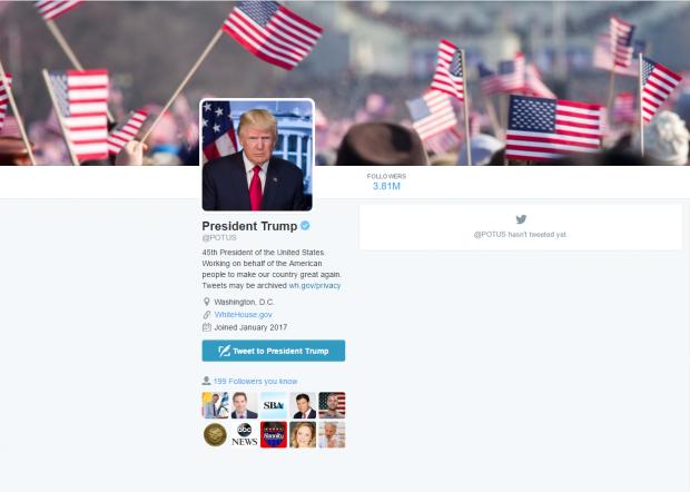 POTUS Twitter Screenshot