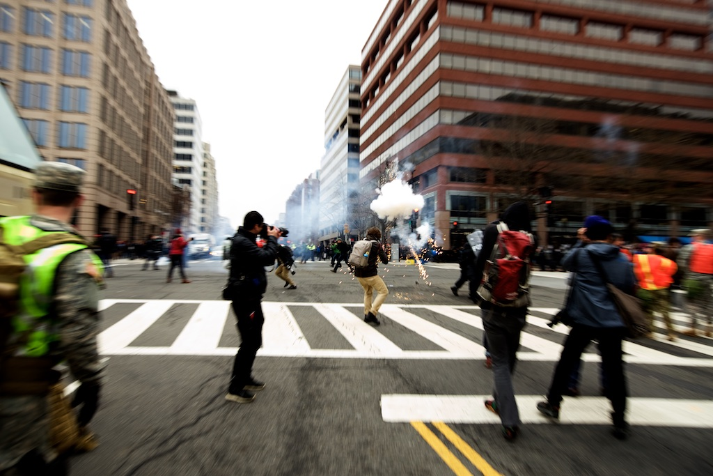 Police using concussion grenades - Daily Caller - Grae Stafford