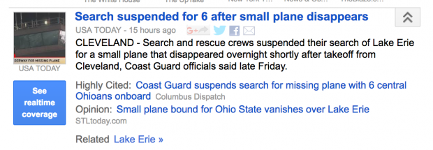 Screenshot of Google News