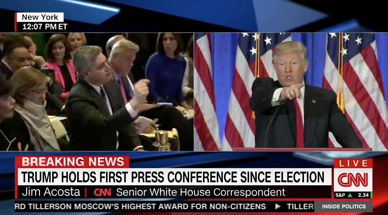 Donald Trump clashes with CNN's Jim Acosta (CNN)