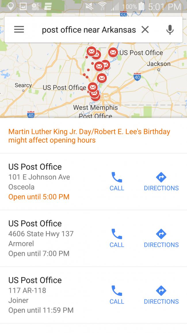 Google maps: Screenshot
