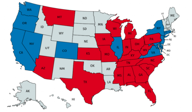 States in grey have not purchased Hillary's Hammers (HillarysHammers.com)