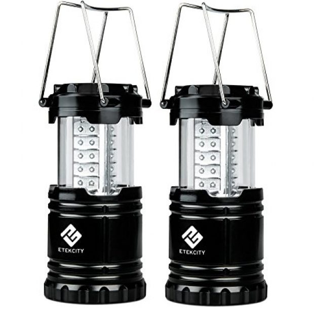 Normally $60, this pair of lanterns is 74 percent off (Photo via Amazon)