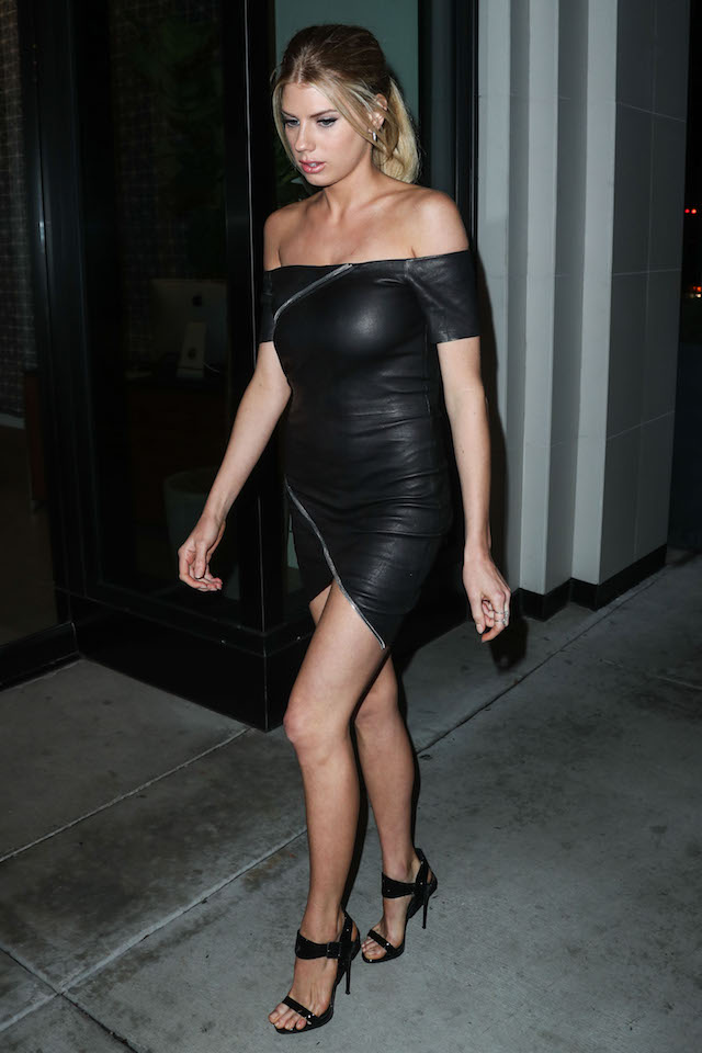 Charlotte McKinney arrives at the Los Angeles Premiere Of Crackle's 'Mad Families' held at Catch LA on January 9, 2017 in West Hollywood, California. <P> Pictured: Charlotte McKinney <B>Ref: SPL1420069 090117 </B><BR /> Picture by: IPA/Splash News<