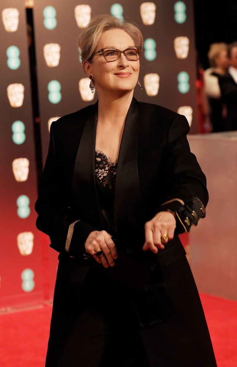 Meryl Streep arrives for the British Academy of Film and Television Awards (BAFTA) at the Royal Albert Hall in London, Britain, February 12, 2017. REUTERS/Toby Melville