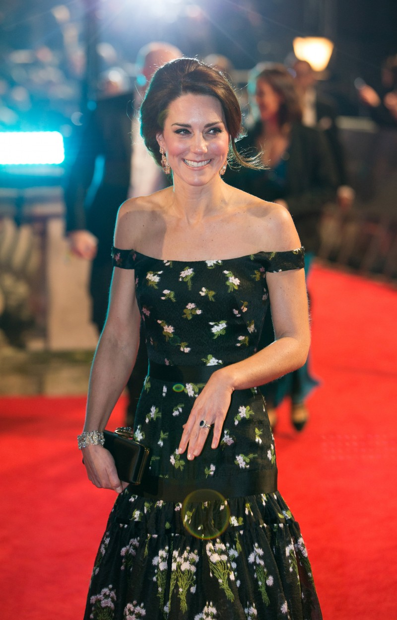 Britain's Catherine, the Duchess of Cambridge arrives for the British Academy of Film and Television Awards (BAFTA) at the Royal Albert Hall in London, Britain, February 12, 2017. REUTERS/Daniel Leal-Olivas/Pool