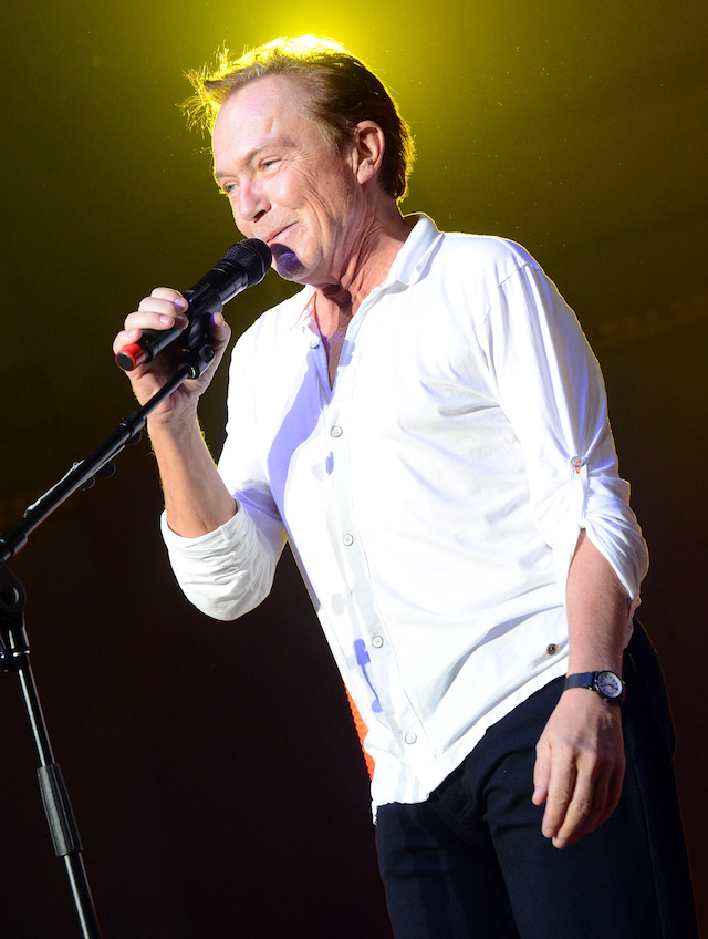 NASHVILLE, TN - OCTOBER 09: David Cassidy performs during the Paradise Artists Party at IEBA Conference Day 3 at the War Memorial Auditorium on October 9, 2012 in Nashville, Tennessee. (Photo by Rick Diamond/Getty Images for IEBA)