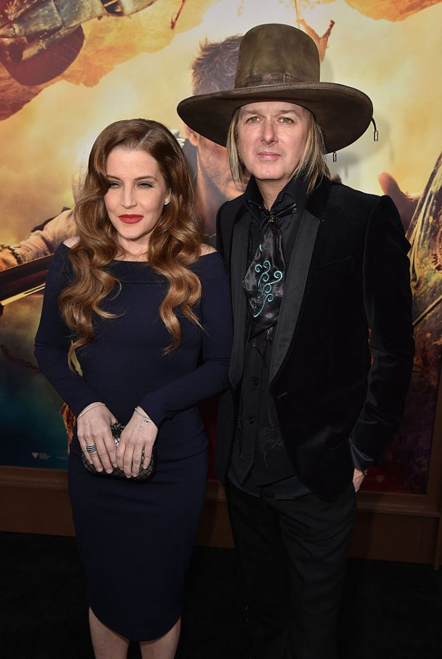 Lisa Marie Presley (L) and musician Michael Lockwood attend the premiere of Warner Bros. Pictures' 'Mad Max: Fury Road' at TCL Chinese Theatre on May 7, 2015 in Hollywood, California. (Photo by Kevin Winter/Getty Images)