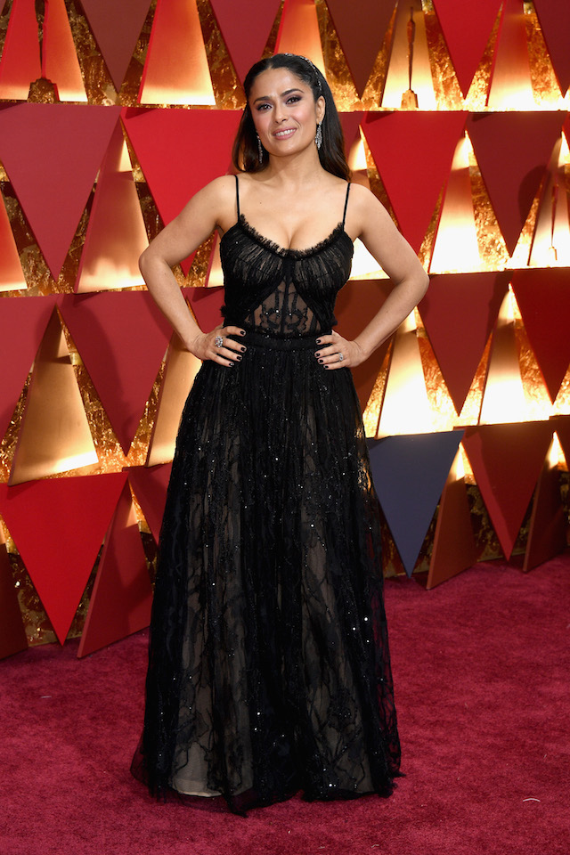 HOLLYWOOD, CA - FEBRUARY 26: Actor Salma Hayek attends the 89th Annual Academy Awards at Hollywood & Highland Center on February 26, 2017 in Hollywood, California. (Photo by Kevork Djansezian/Getty Images)