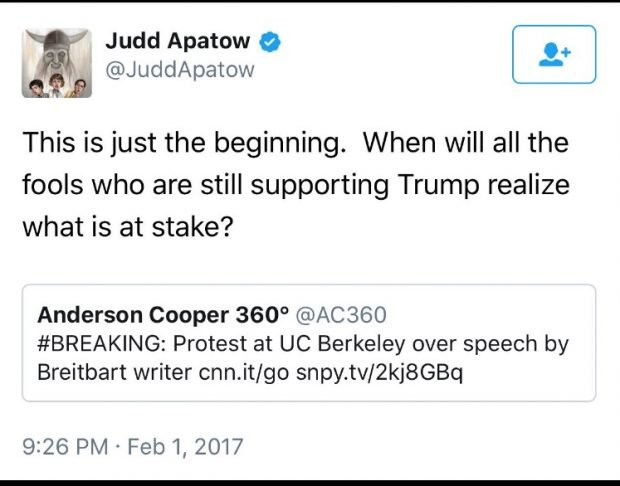 Judd Apatow tweet