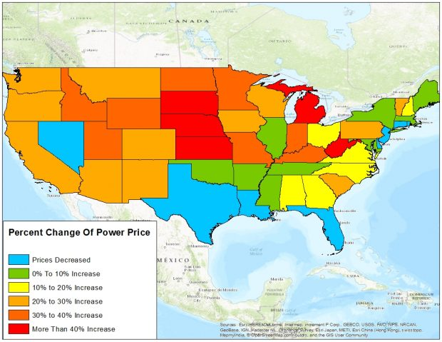 Data from the Energy Information Administration compiled by TheDCNF